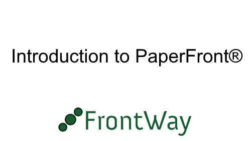 Introduction to PaperFront